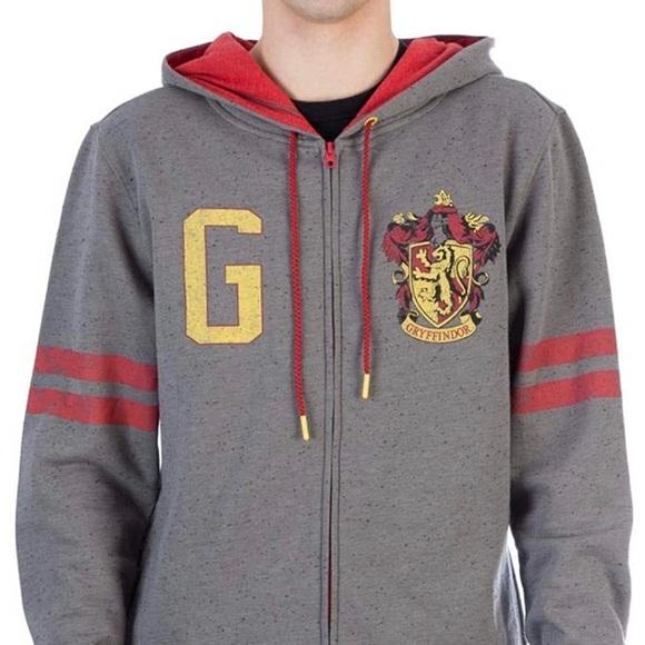 Harry Potter Gryffindor Zip-up Hoodie Sweatshirt